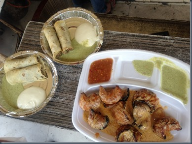 Tandoori momos and shawarma at Hunger strike