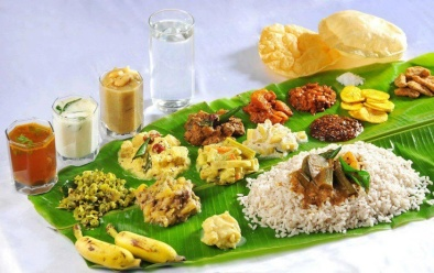 sadya, the traditional Kerala feast